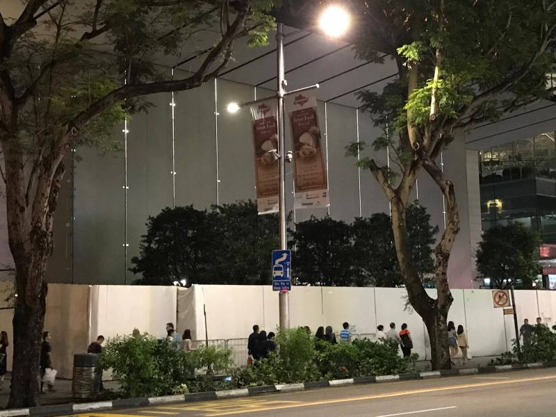 Apple Retail Store - Trees at Night