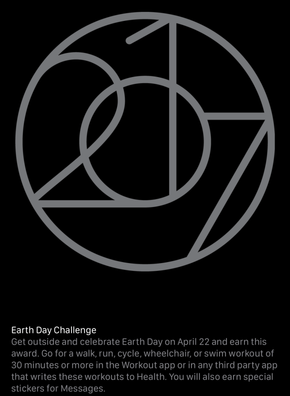 Apple Watch Earth's Day Challenge