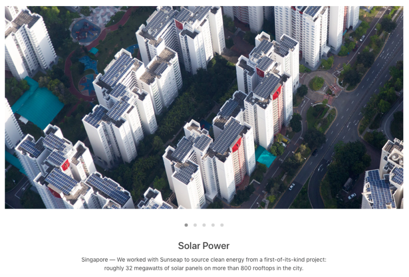Apple's take on Renewable Energy in Singapore
